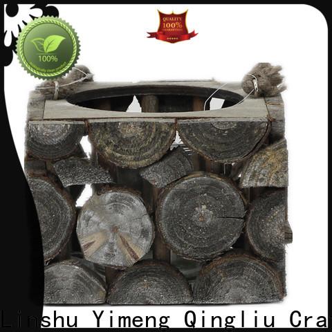 Yimeng Qingliu homemade wooden flower pots factory for patio