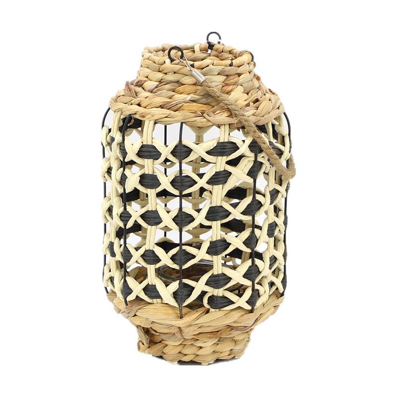 New Colour Woven Seagrass Candle Lantern