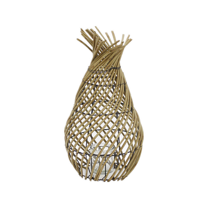 Vase Artificial Poly Rattan Candle Lantern
