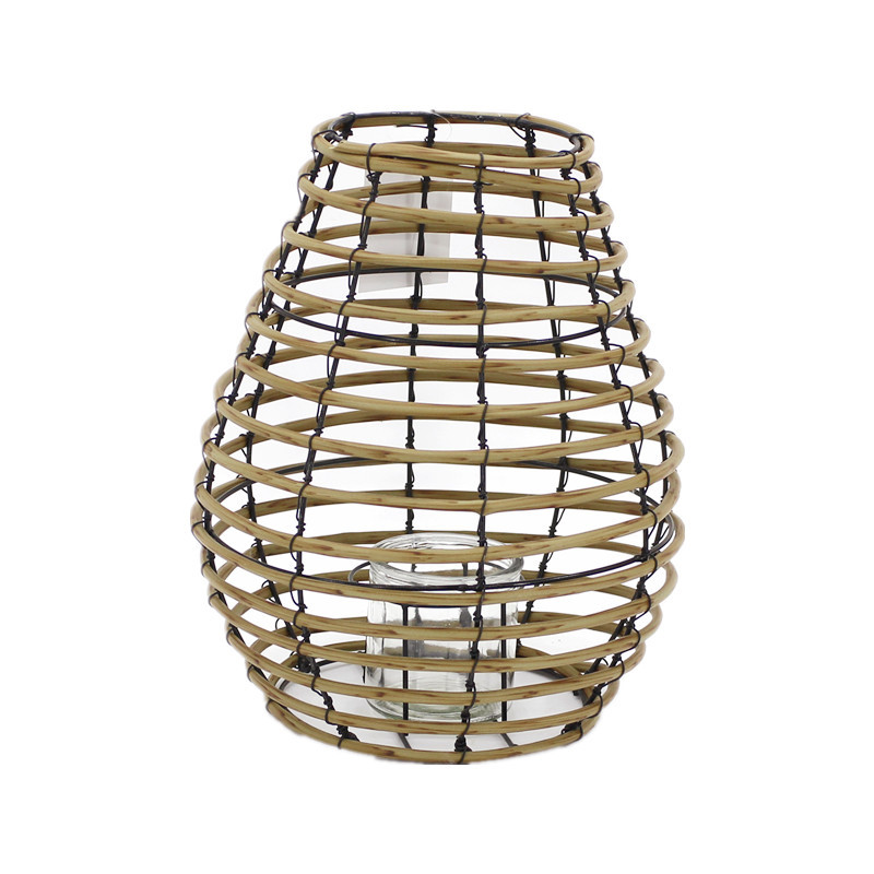 Traditional Artificial Poly Rattan Candle Lantern