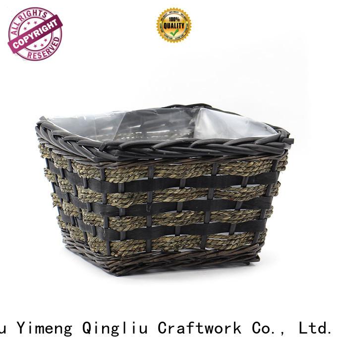 Yimeng Qingliu outdoor wicker plant pot suppliers for patio