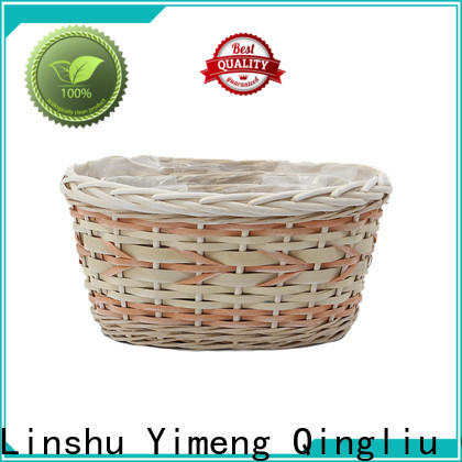 Yimeng Qingliu high-quality small wicker planter supply for outdoor