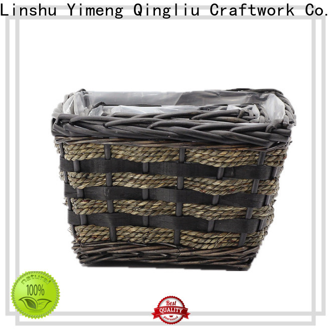 Yimeng Qingliu wicker rattan planter supply for outdoor