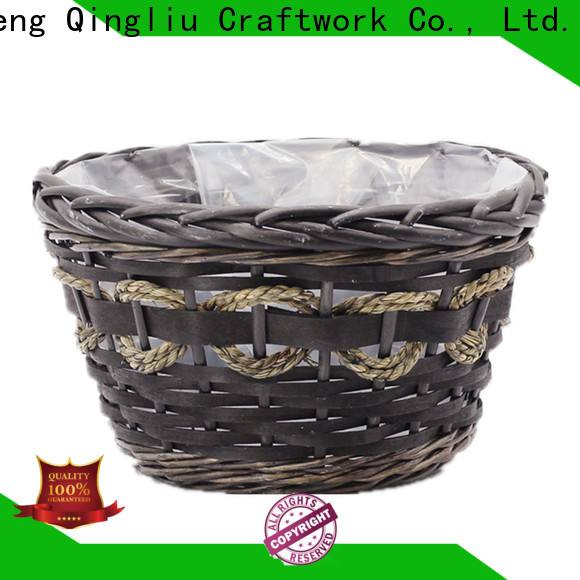 wholesale outdoor wicker basket planter company for outdoor