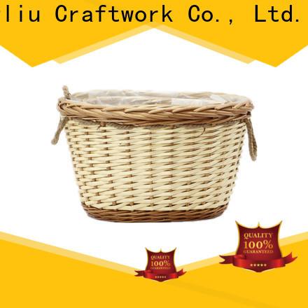 Yimeng Qingliu custom wicker basket with plant factory for garden
