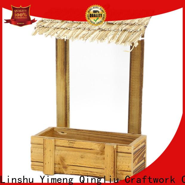 best wooden flower pot hanger supply for garden
