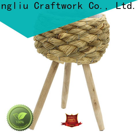 wholesale lined seagrass plant basket suppliers for patio
