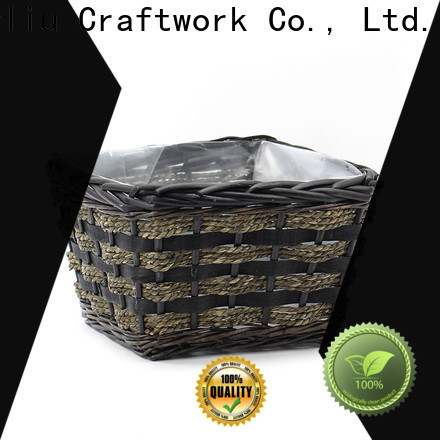 latest outdoor wicker basket planter company for patio