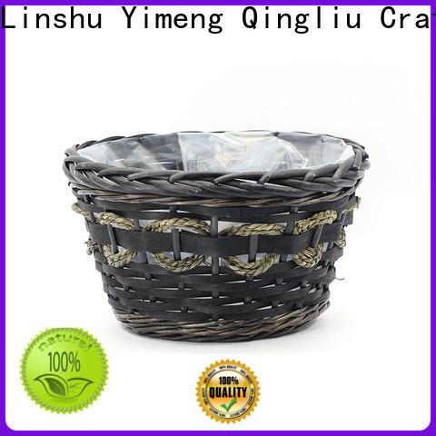 best black wicker planter manufacturers for indoor