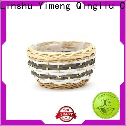 Yimeng Qingliu wicker hanging baskets for plants suppliers for garden