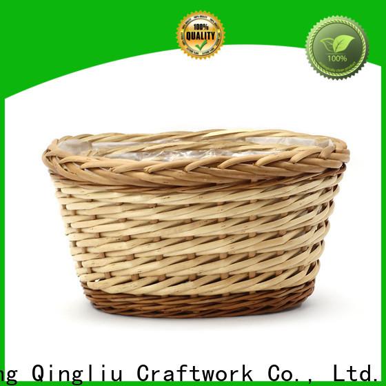custom wicker rectangular planter manufacturers for garden