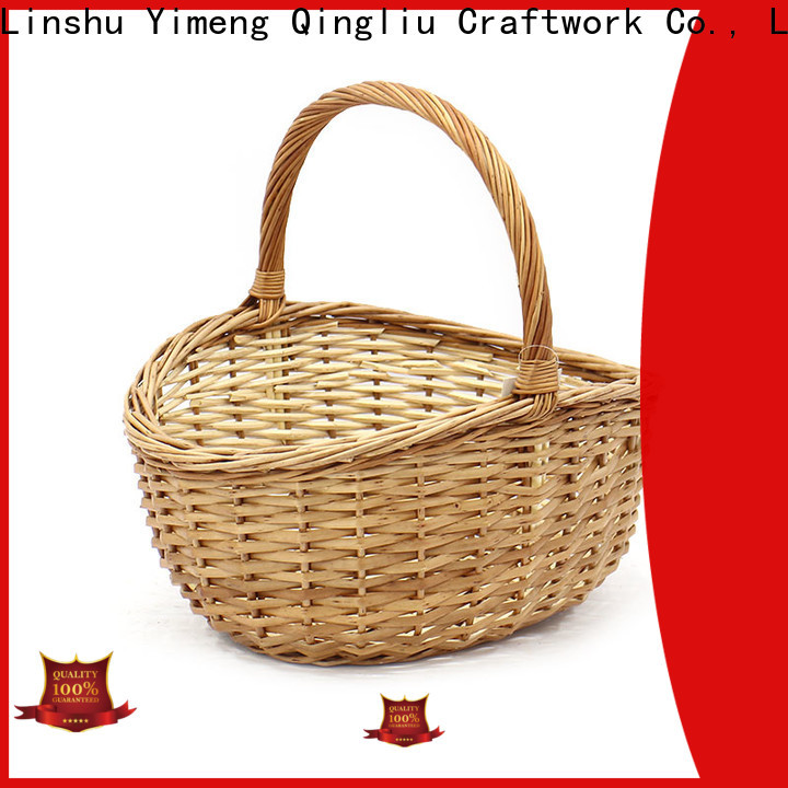 Yimeng Qingliu top small wicker basket with handle manufacturers for boy