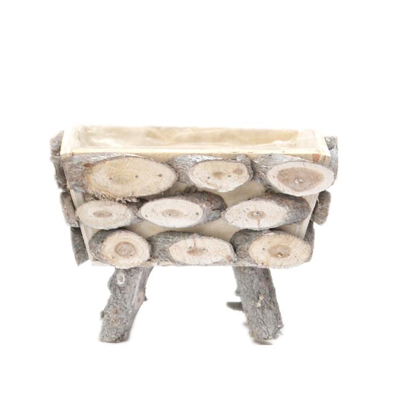 Trapezoid Wooden Plant Pot