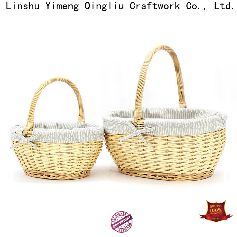 Yimeng Qingliu latest natural wicker basket factory for outdoor