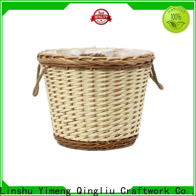 Yimeng Qingliu New grey wicker planters supply for outdoor