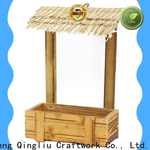 best wooden flower pot decoration suppliers for patio