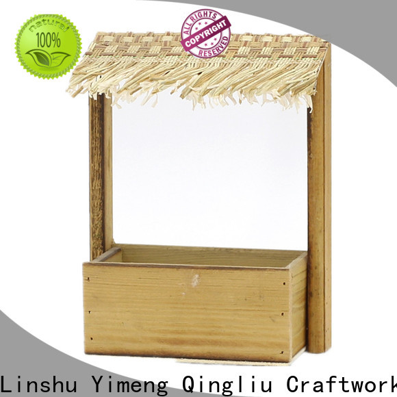 best wooden planters round factory for outdoor