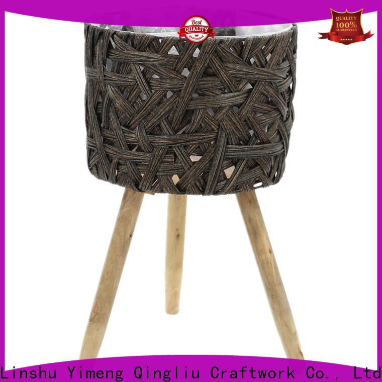 Yimeng Qingliu big wooden flower pots manufacturers for outdoor
