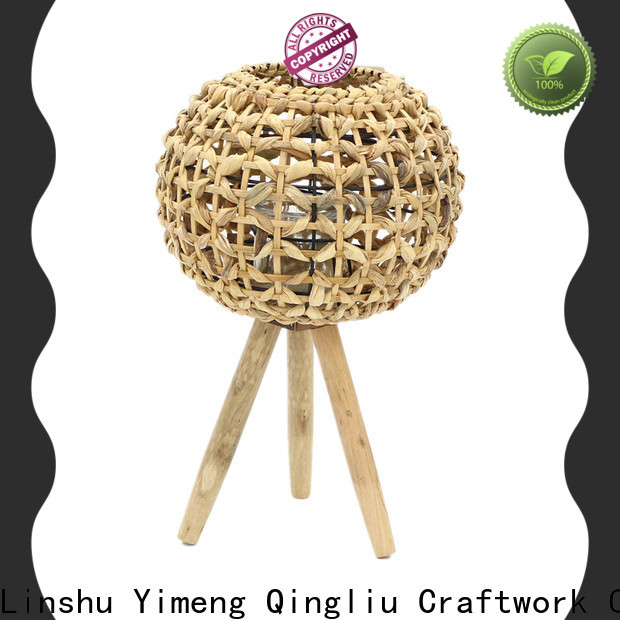 Yimeng Qingliu wholesale seagrass candle lantern factory for outdoor