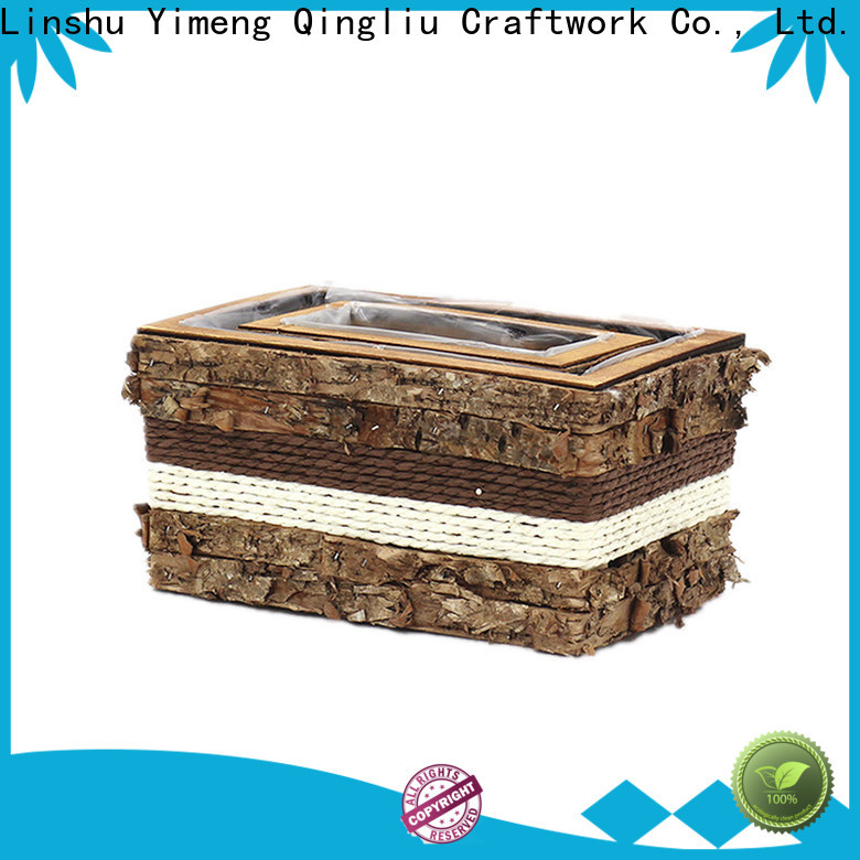 Yimeng Qingliu high-quality outdoor wooden flower pots suppliers for patio