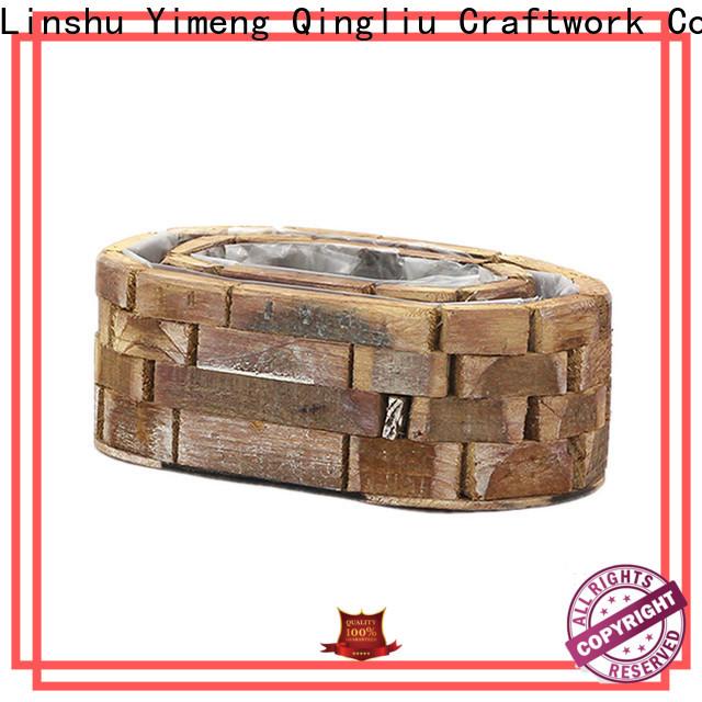 Yimeng Qingliu wood laundry basket suppliers for garden