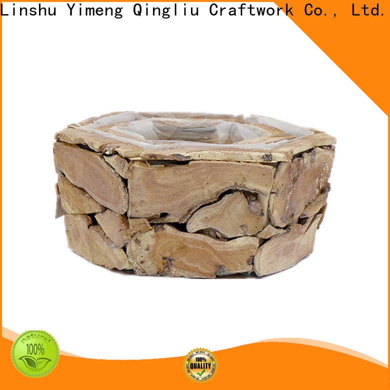 Yimeng Qingliu grey wooden storage box for sale for garden
