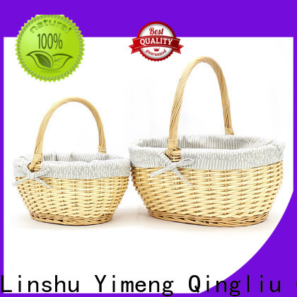 custom wicker basket with handle manufacturers for present