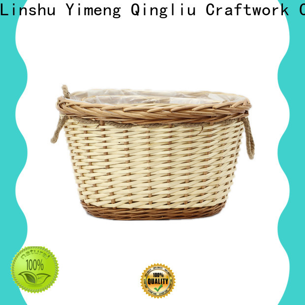 Yimeng Qingliu faux wicker planter for business for outdoor
