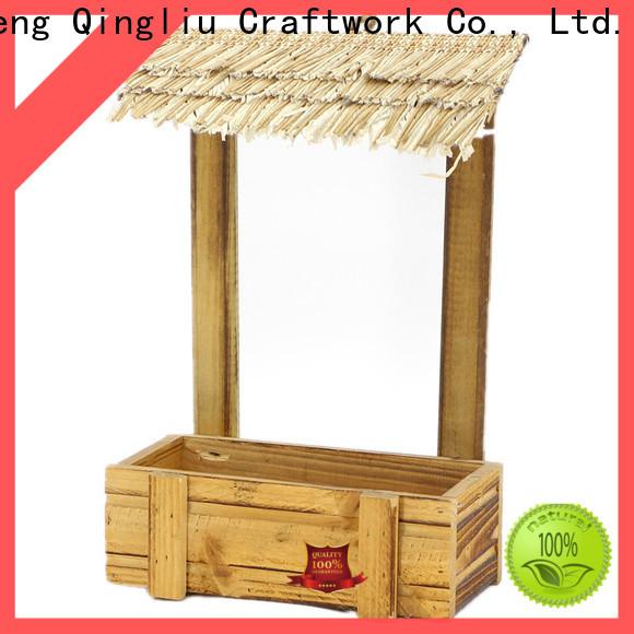Yimeng Qingliu white wooden laundry box company for patio