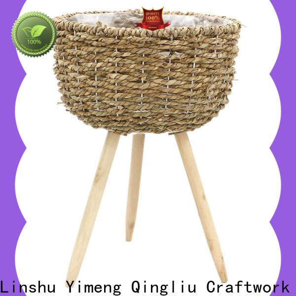 Yimeng Qingliu seagrass magazine rack for business for patio