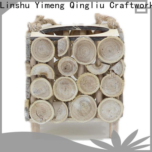 wholesale wood log basket for sale for garden