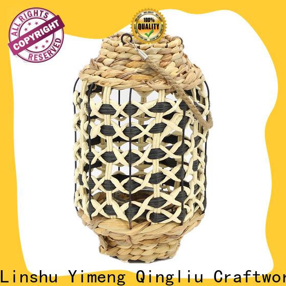 Yimeng Qingliu woven candle lantern supply for patio