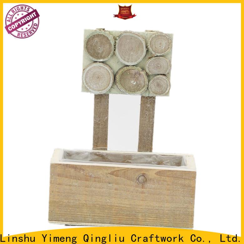 Yimeng Qingliu custom wooden laundry baskets for business for garden