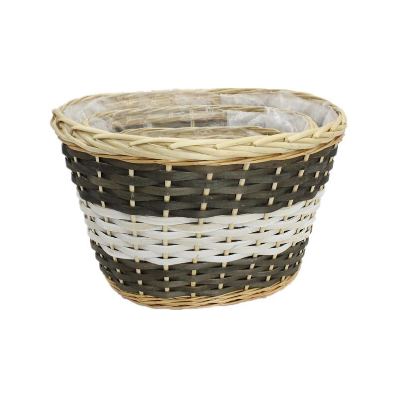 Oval Wash Wicker Planter