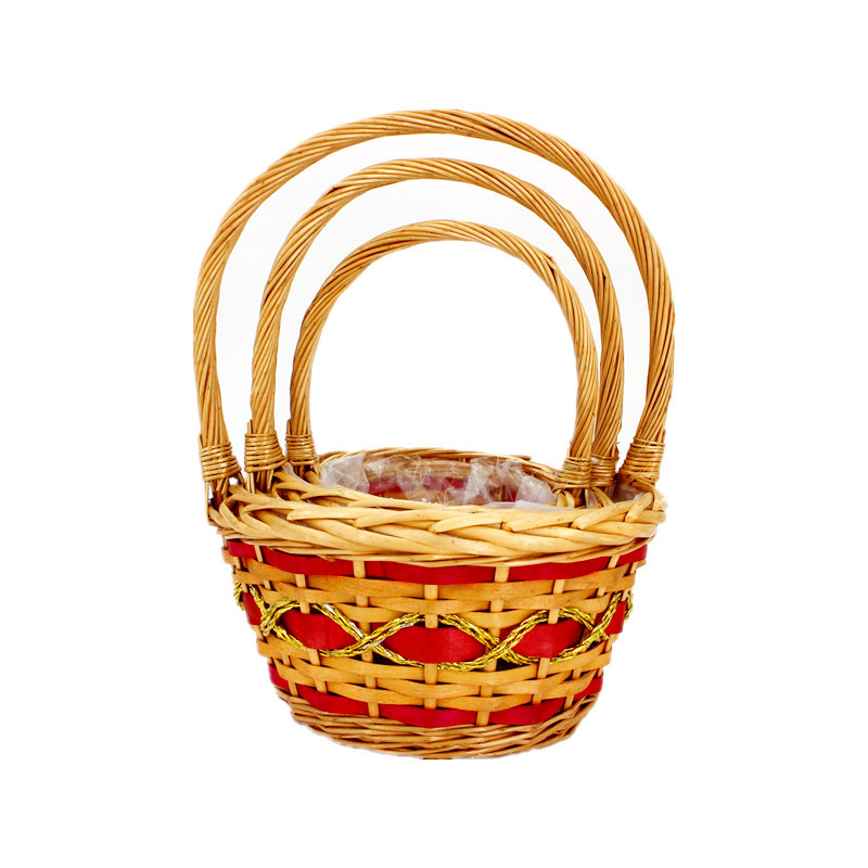 Deluxe Wicker Flower Basket