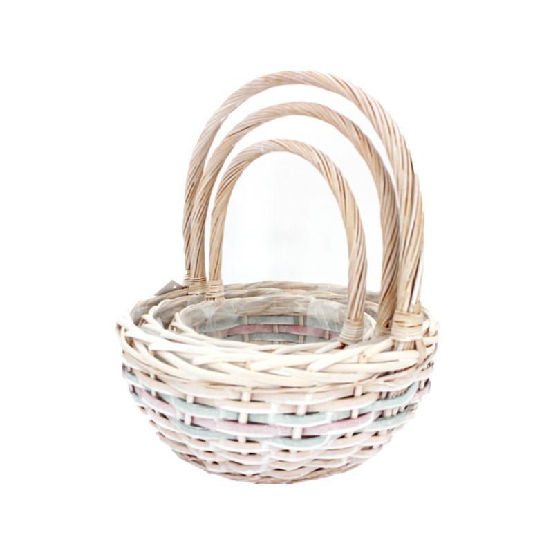 Round Large Wicker Flower Basket