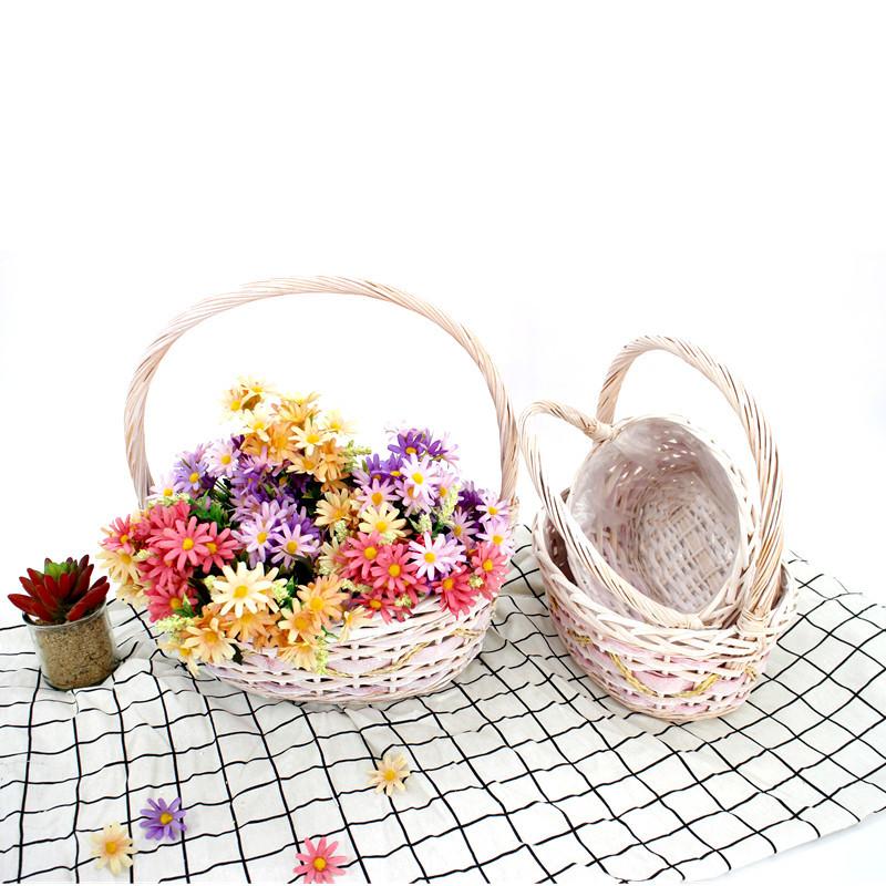 Oval Large Wicker Basket