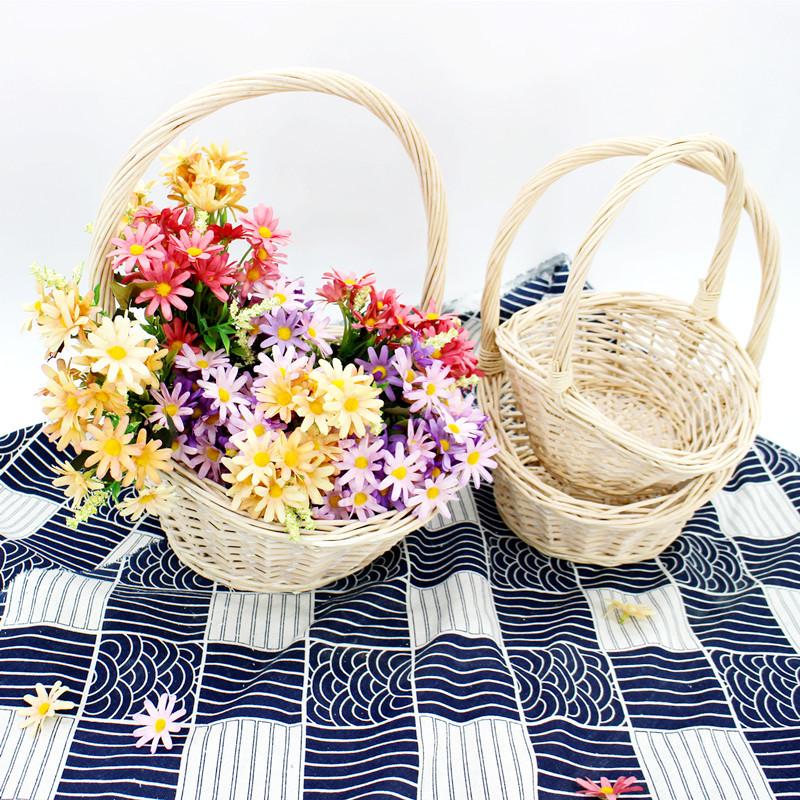 Natural Wicker Display Basket