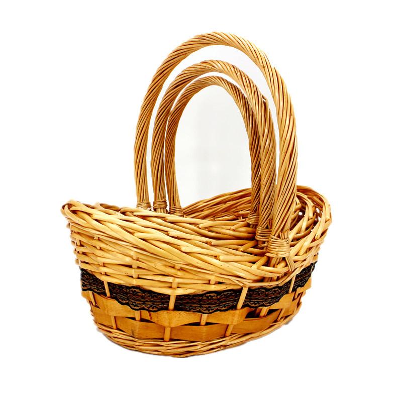 Deluxe Slope Sided Wicker Basket