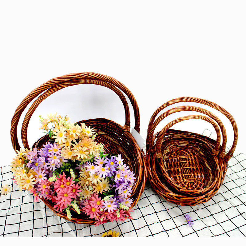 Rustic Wicker Trug Basket