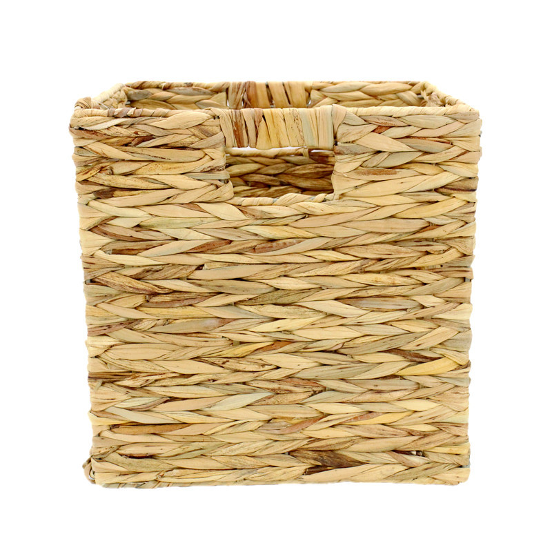 Natural Square Water Hyacinth Storage Basket