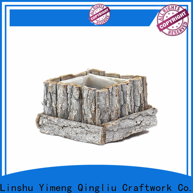 Yimeng Qingliu best round wooden flower pots supply for patio