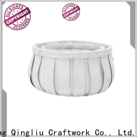 Yimeng Qingliu wooden basket storage supply for garden