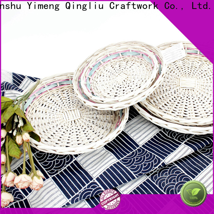 Yimeng Qingliu large wicker storage baskets with lids company for gift