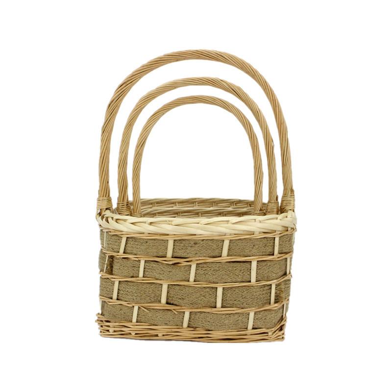 Square Antique Wicker Basket