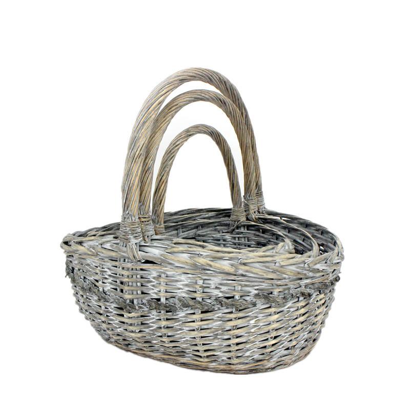 Antique Oval Wicker Basket