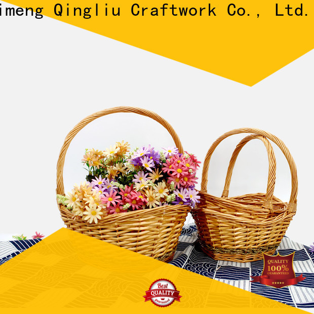 Yimeng Qingliu wicker basket with lid company for gift