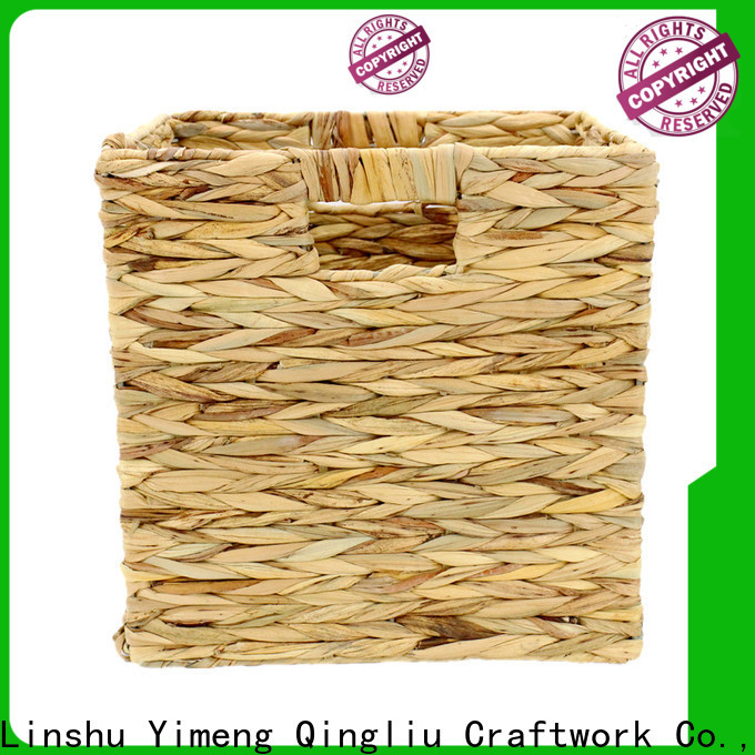 Yimeng Qingliu wholesale water hyacinth basket with lid for sale for outdoor