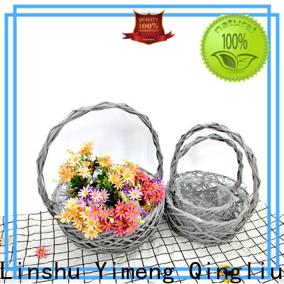 custom large log basket company for gift