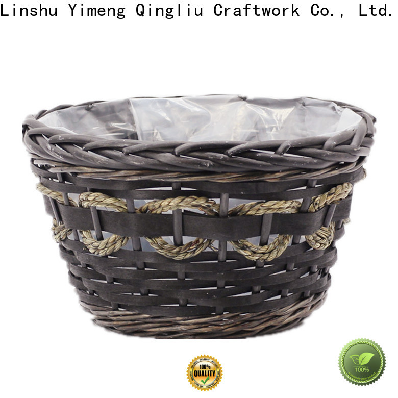 high-quality white wicker storage boxes supply for indoor